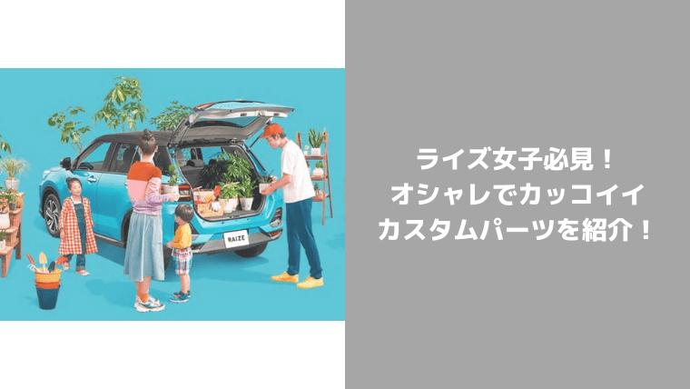 ライズ女子おすすめパーツ&カラー紹介
