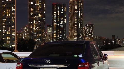 愛車と夜景