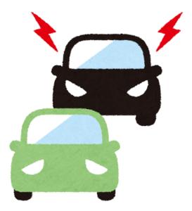 煽り運転をする車のイメージ
